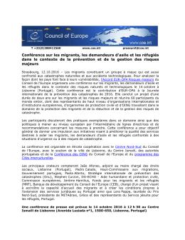 Conférence sur les migrants, les demandeurs d`asile et les réfugiés