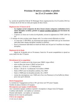 Règlement 12 heures de Mazamet 2016