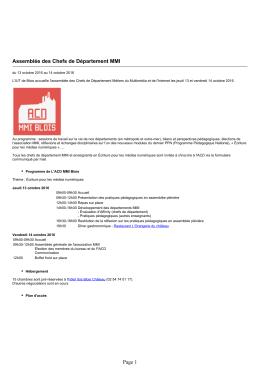 IUT de Blois - Assemblée des Chefs de Département MMI