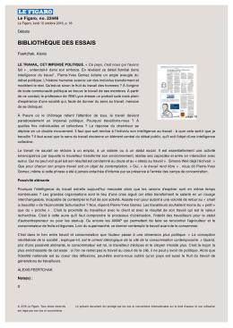 bibliothèque des essais - Pierre