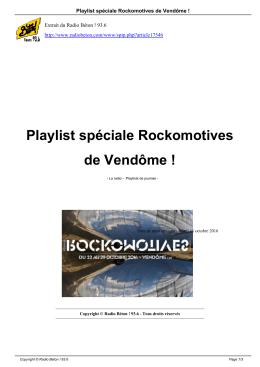 Playlist spéciale Rockomotives de Vendôme