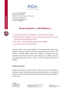 Fiat CP n°22 - Séries spéciales LIVE Edizione
