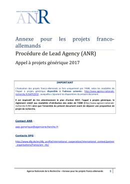 Projets franco-allemands (DFG)