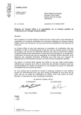 Consultation - Canton de Vaud