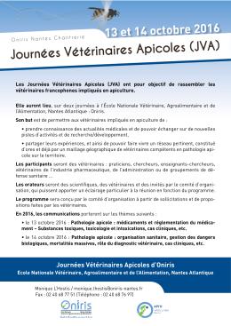 Journées Vétérinaires Apicoles (JVA)