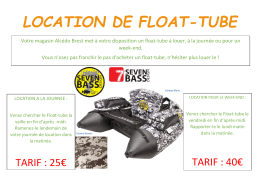 location de float-tube - AAPPMA Saint