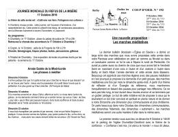 Agenda paroissial - Diocèses de Savoie