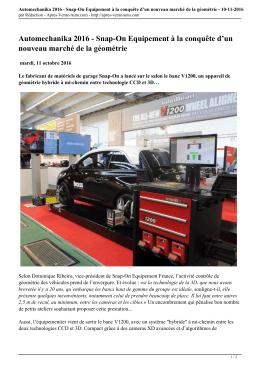 Automechanika 2016 - Apres-Vente