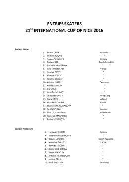 2016 Cup of Nice - Nice Baie des Anges Association