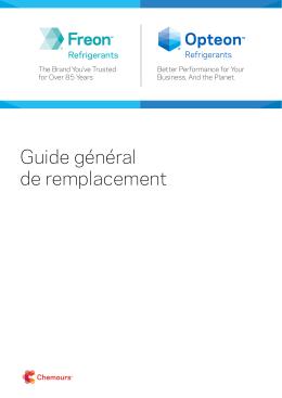 Guide général de remplacement