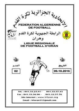 2 - Ligue Régionale de Football d`Oran