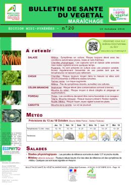 bulletin de sante du vegetal - DRAAF Languedoc