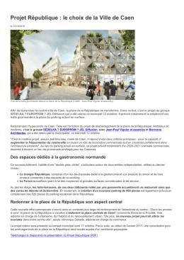 Projet République : le choix de la Ville de Caen