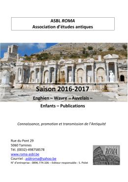 brochure de la saison en PDF