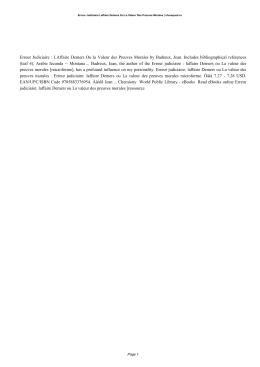 PDF Book Erreur Judiciaire Laffaire Demers Ou La Valeur Des