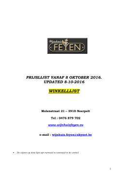 winkellijst - Wijnhuis Feyen