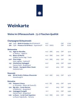 Weinkarte - Restaurant Sternen Walchwil