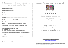 bulletin inscription formation niveau 1 octobre novembre 2016