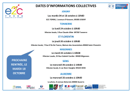 dates d`informations collectives