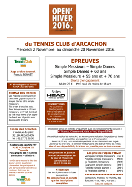 open hivers 2016 - Tennis Club Arcachon