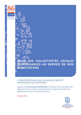 Rapport - Institutionnel