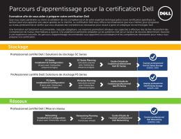 Parcours d`apprentissage pour la certification Dell