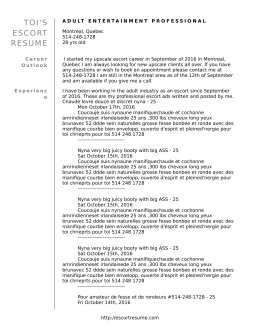 Adobe pdf - Escort Resume