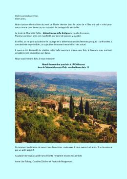 Kalavrita aux Mille Antigone