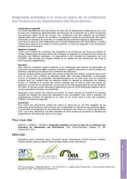 Consulter le résumé de l`étude - ORS Poitou