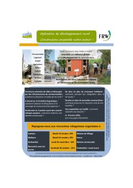 Invitation à l`opération de développement rural