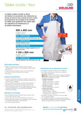 Fiche commerciale tablier soudeur W000010587