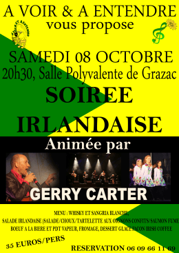 affiche soiree irlandaise A4