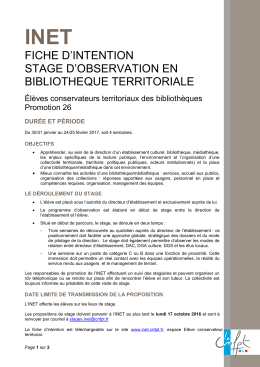 fiche d`intention stage d`observation en bibliotheque territoriale