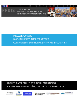 programme - Colloque 2FQIS 2016