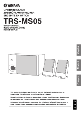 TRS-MS05 Owner`s Manual
