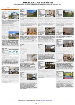 journal des annonces immobilieres Alpes Maritimes