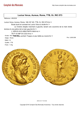 Lucius Verus, Aureus, Rome, TTB, Or, RIC:573