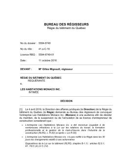 Les Habitations Monaco inc. – PDF