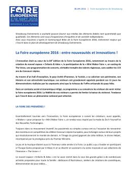 Bilan Foire européenne 2016 - Foire Européenne de Strasbourg