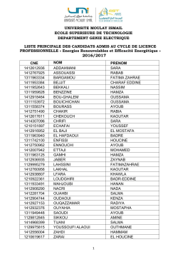 Liste Principale