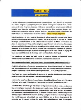 Pe tition linky 1 - Ecocitoyens du Bassin d`Arcachon