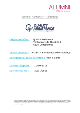 20161010 OE411 Quality Assistance Analyst