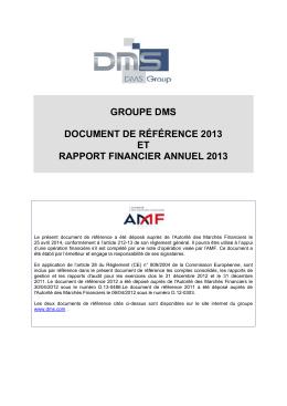 Rapport financier annuel 2013