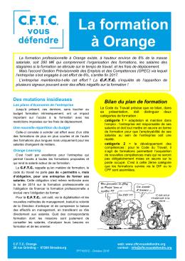 La formation à Orange - CFTC