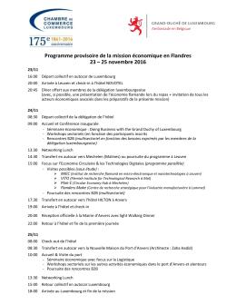 Programme provisoire - Enterprise Europe Network au Luxembourg