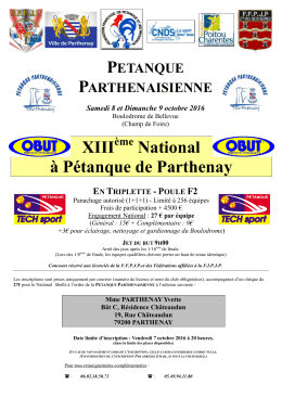 XIII National à Pétanque de Parthenay