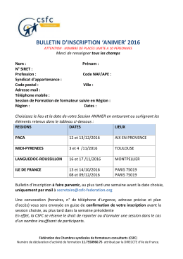 bulletin d`inscription `animer` 2016