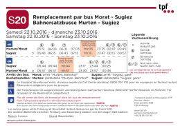 horaire et arrêts des bus de remplacement