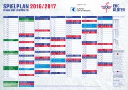 spielplan 2016 / 2017
