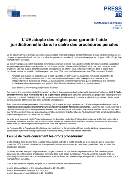 Conseil de l`UE - Council of the European Union